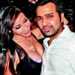 Sofia Hayat with Rohit Sharma
