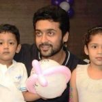 Suriya with his children