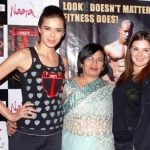 Urvashi Sharma with her mother and sister