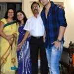 Abhishek Singh Pathania with his family