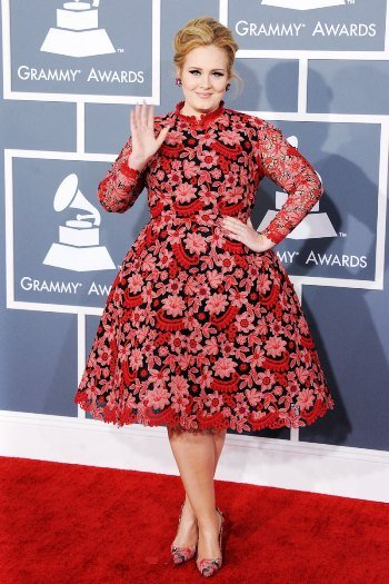 Adele on the The Grammys