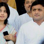 Akhilesh Yadav with his wife Dimple Yadav