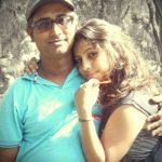 Alisha Behura with her father, Anjan