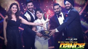 """Alisha Behura after winning the trophy of """"So You Think You Can Dance"""""""