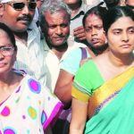 Anupriya Patel with her mother Krishna Patel