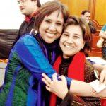 Barkha Dutt with her sister Bahar Dutt