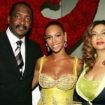 Beyonce-Knowles with her parents