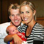 Brett Lee with his Ex-wife Elizabeth Kemp and son Preston Charles