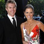 Brett Lee with his former wife Elizabeth Kemp