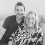Brett Lee with his mother
