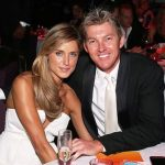 Brett Lee with his wife Lana Anderson