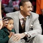Carmelo Anthony with Son