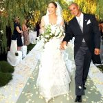 Criss Judd and Jennifer Lopez on their wedding day.