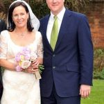 David Cameron with his younger sister Clare