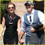 David Lucado hands-in-hands with Britney Spears