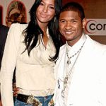 Elishia Brightwell with Usher