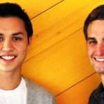 Evan Spiegel with Bobby Murphy