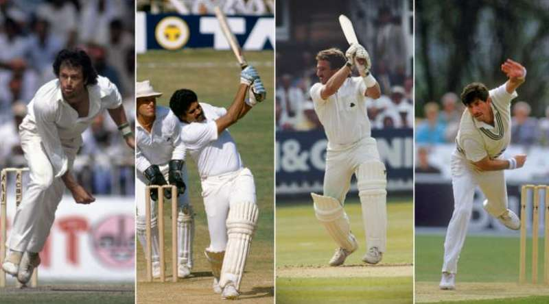 Four of the greatest all rounders- Imran Khan, Kapil Dev, Ian Botham, and Richard Hadlee