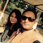 Gaurav Tiwari with his wife Arya Kashyap