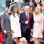 Left to right: Tiffany, Eric, Melania, Donald, Ivanka and Barron