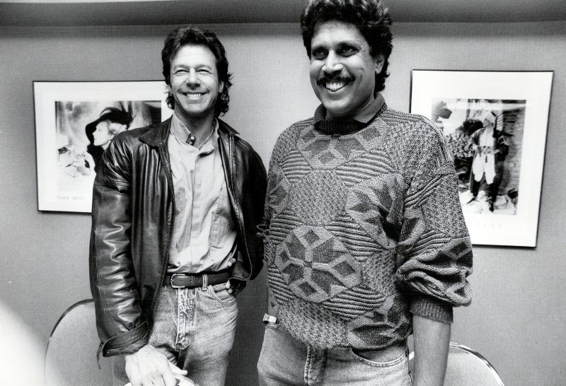 Kapil Dev With Imran Khan