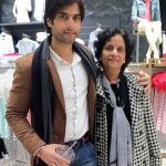 Kartik Bishnoi with his mother