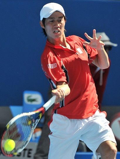 Kei Nishikori Playing