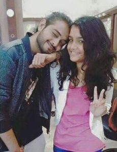 Kushal Paul with his younger sister, Isis