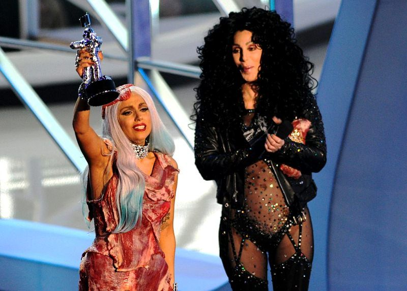 Lady Gaga with Cher (right)
