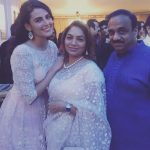 Mandana Karimi with Gaurav Gupta's parents