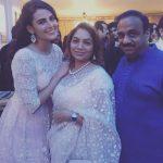 Mandana Karimi with Gaurav Gupta's parents