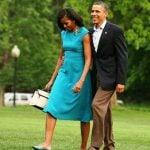 Michelle Obama with her husband Barack Obama