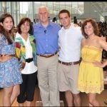 Mike Pence with his wife and children