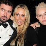 Miley with her Parents