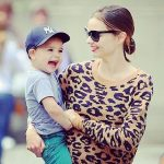 Miranda Kerr with her son, Flynn