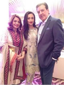 Momal Sheikh with her parents