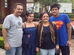 Nehalaxmi Iyer with her family