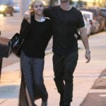 Patrick Schwarzanegger and Miley taking a stroll