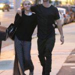 Patrick Schwarzanegger and Miley taking a stroll