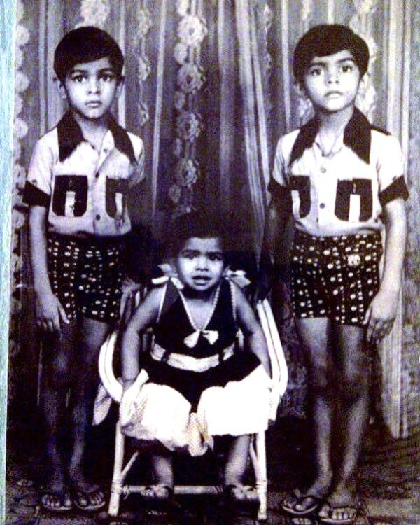 Raghu Ram With His Siblings