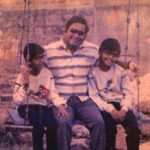 Rajiv Laxman childhood pic with his father and brother