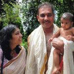 Ravi Shastri with his wife Ritu and daughter Aleka
