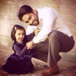 Salman Yusuff Khan with his daughter
