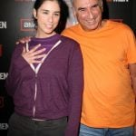 Sarah Silverman with her father