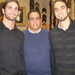 Seth Rollins with father and brother