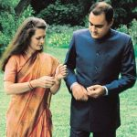 Sonia Gandhi with her husband Rajiv Gandhi