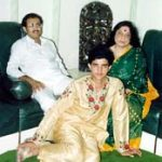 Sourav Ganguly with his parents