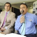 Sunil Gavaskar with his son Rohan