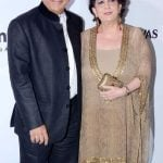 Sunil Gavaskar with his wife Marshneil