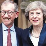 Theresa May with her husband Philip May